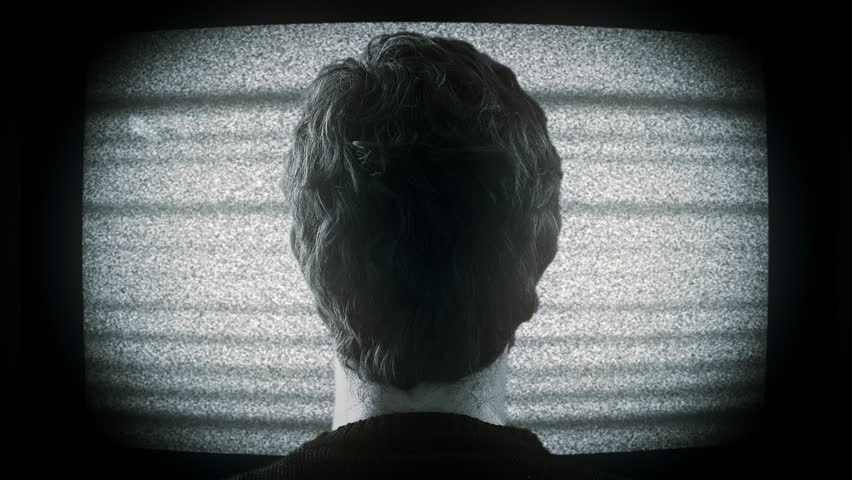 watching white noise on tv